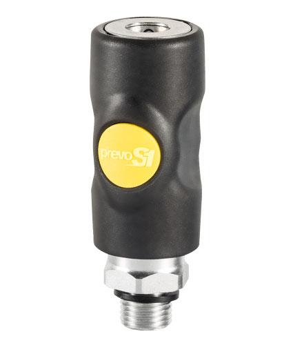 Sicherheits-Schnellkupplung ARO 210, 6 mm, G 1/4 BSP male, ASI 061151CP
