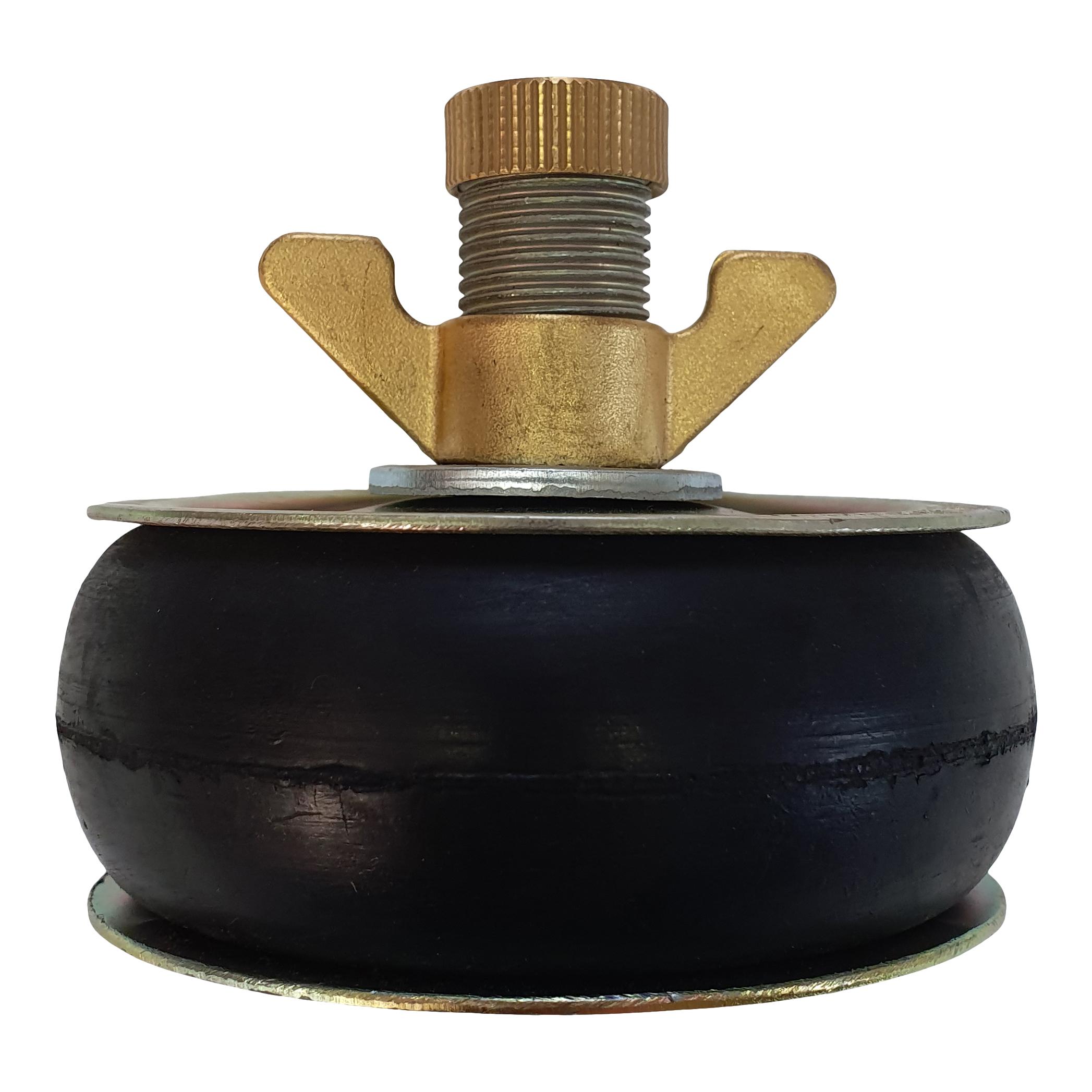Absperrscheiben mit 1 Dichtring NR-Gummi, Stahl-Scheibe, DN 40 - 450