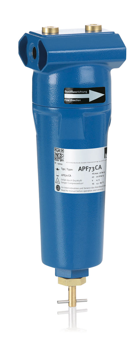 KSI APF Filtergehäuse mit  Aktivkohlefilter
