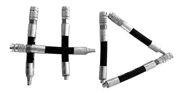 Flexadapter mit Sicherheitskupplung Einstecknippel diverse Ausführungen