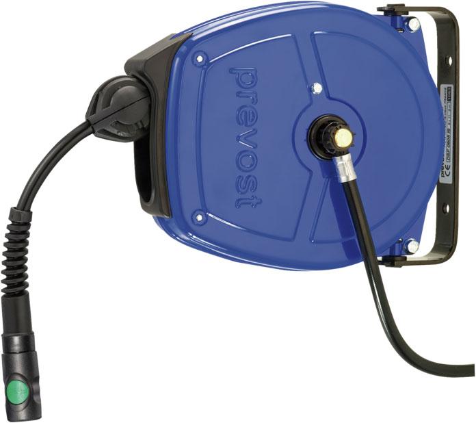 Prevost DSF 1003ES Kompakter Edelstahl-Schlauchaufroller für feuchte Umgebungen