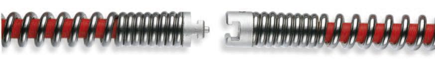 Spirale gehärtet, mit Seele (Kern) 16 - 32 mm, bis 4,5 m, mit Nut-Stift-Kupplung