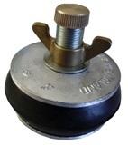Absperrscheiben mit 1 Dichtring NR-Gummi, Aluminium-Scheibe, DN 40 - 600