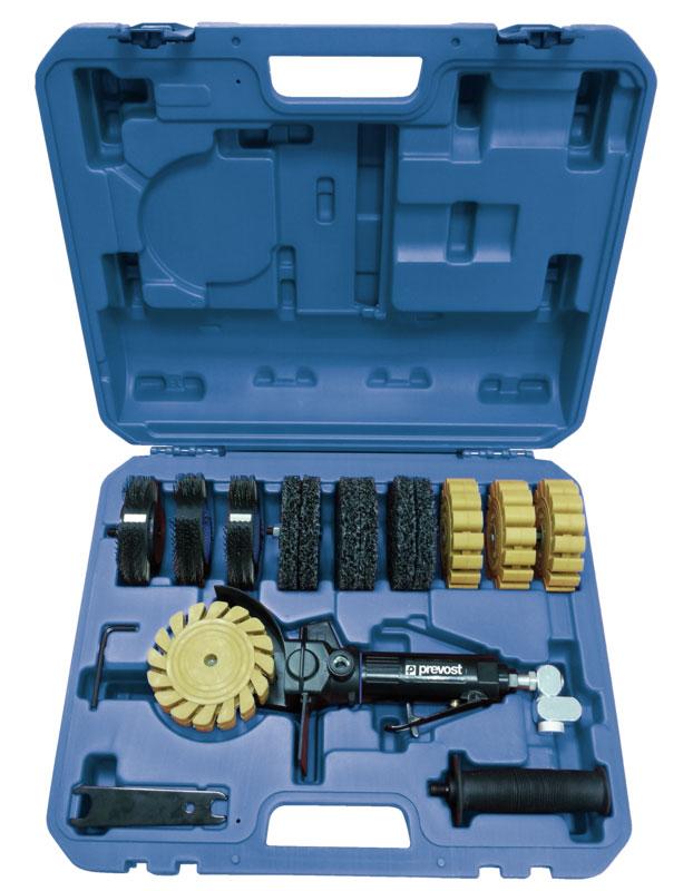 "Prevost TMB 3500K Druckluft-Bürstmaschine Koffer R 1/4"""